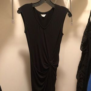 Lucky Brand fitted LBD front ruching in XS